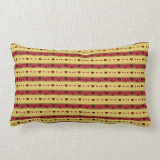 Vintage Mini Hearts MoJo Throw Pillow