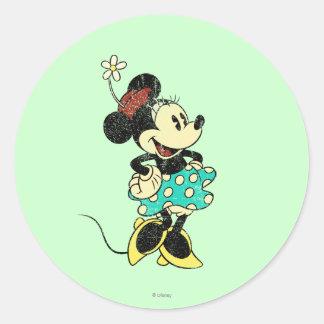 Vintage Minnie Mouse 1 Classic Round Sticker