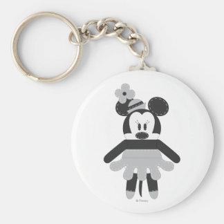 Vintage Minnie Mouse de Pook-a-Looz Llavero Redondo Tipo Pin