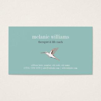 Vintage Mint hummingbird illustration elegant card