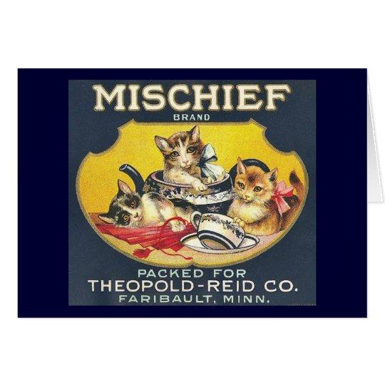 Vintage Mischief Brand Label Card
