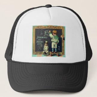 Vintage Mischievous Schoolboy and his Faithful Dog Trucker Hat