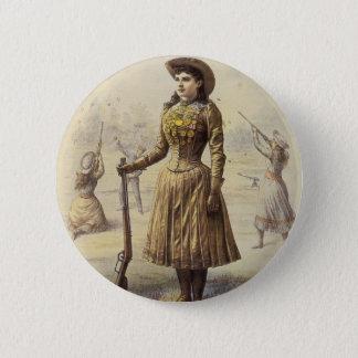 Vintage Miss Annie Oakley, Western Cowgirl Button