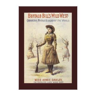Vintage Miss Annie Oakley, Western Cowgirl Canvas Print