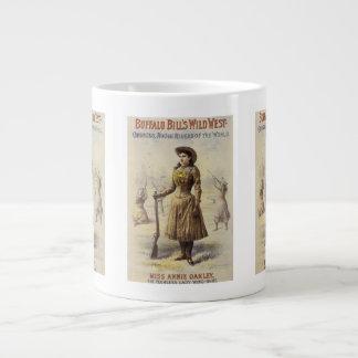 Vintage Miss Annie Oakley, Western Cowgirl Large Coffee Mug