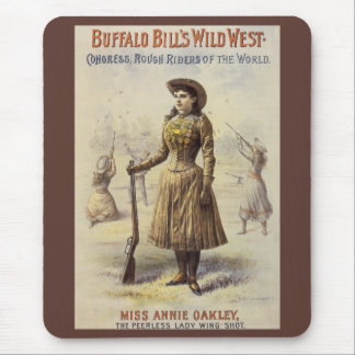Vintage Miss Annie Oakley, Western Cowgirl Mouse Pad