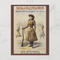 Vintage Miss Annie Oakley, Western Cowgirl Postcard