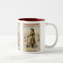 Vintage Miss Annie Oakley, Western Cowgirl Two-Tone Coffee Mug