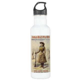 Vintage Miss Annie Oakley, Western Cowgirl Water Bottle