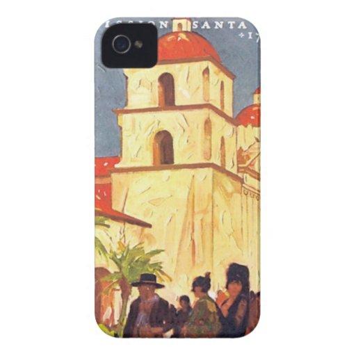 Vintage Missions Santa Barbara iPhone 4 Covers