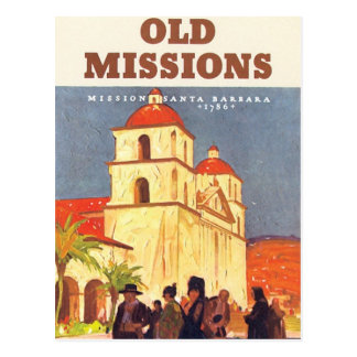 Vintage Missions Santa Barbara Postcard
