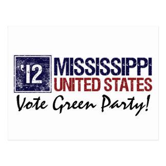 Vintage Mississippi del Partido Verde del voto en Postales