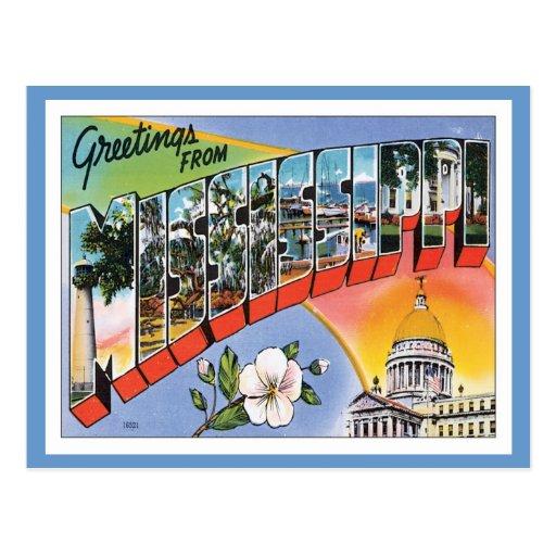 Vintage Mississippi Postales