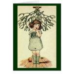 Vintage - Mistletoe Illustration Card