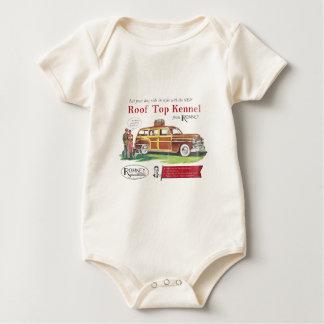 Vintage Mitt Romney Dog Retro Ad Baby Bodysuit