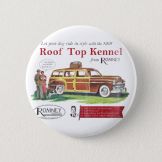 Vintage Mitt Romney Dog Retro Ad Button