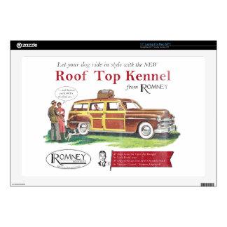 "Vintage Mitt Romney Dog Retro Ad 17"" Laptop Skin"