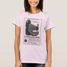 Vintage Modak Camera Ad Ladies T-Shirt