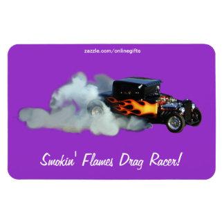 Vintage Model Drag-Racing Speedway Art Magnet