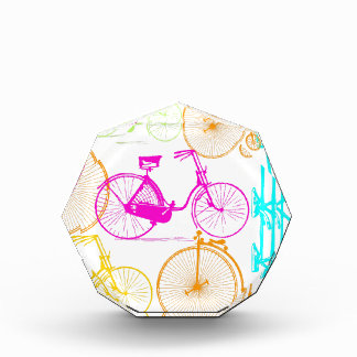 Vintage Modern Bicycle Bright Color Neon Pattern Award