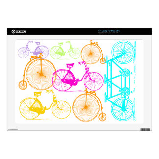 Vintage Modern Bicycle Bright Color Neon Pattern Decal For Laptop
