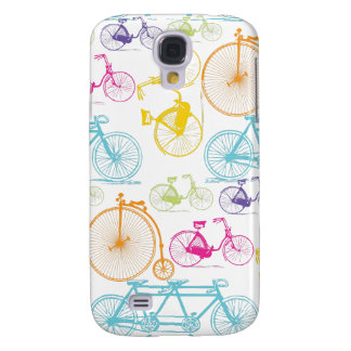 Vintage Modern Bicycle Bright Color Neon Pattern Galaxy S4 Cover