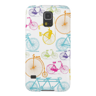 Vintage Modern Bicycle Bright Color Neon Pattern Galaxy S5 Case