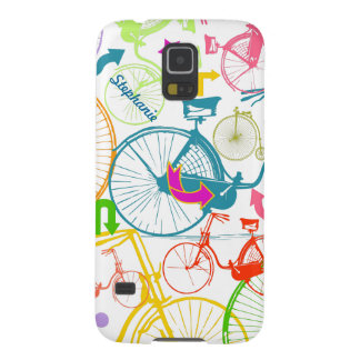 Vintage Modern Bicycle Bright Color Neon Pattern Galaxy S5 Cover