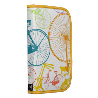 Vintage Modern Bicycle Bright Color Neon Pattern Folio Planners