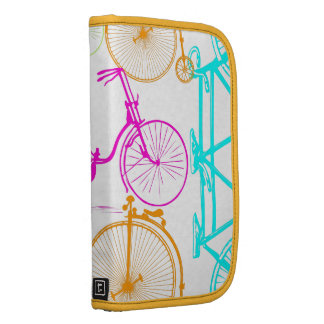 Vintage Modern Bicycle Bright Color Neon Pattern Organizers
