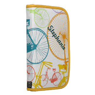 Vintage Modern Bicycle Bright Color Neon Pattern Planners
