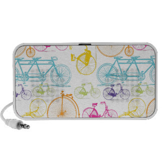 Vintage Modern Bicycle Bright Color Neon Pattern Speaker System