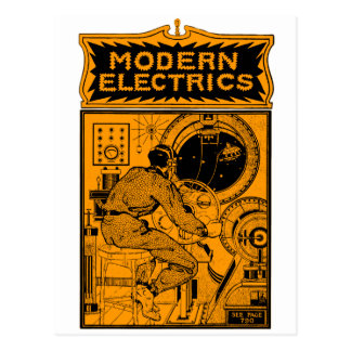 Vintage Modern Electrics Magazine Cover Post Cards