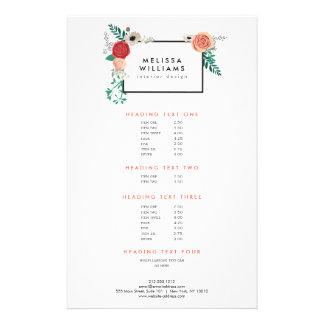 Vintage Modern Floral Motif on White Designer Flyer