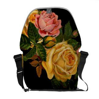 Vintage Modern Floral Pattern Rickshaw Bag Courier Bag