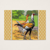 Vintage Modern Game Chicken Business Card