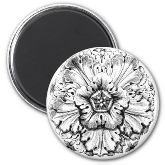 Vintage Modern Leafy Flower Fridge Magnet