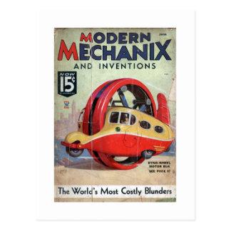 Vintage Modern Mechanix magazine Postcard