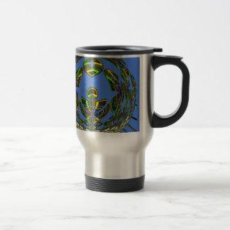 Vintage modern Motif 15 Oz Stainless Steel Travel Mug