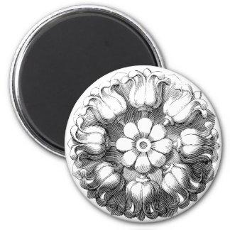 Vintage Modern Tulip Flower 2 Inch Round Magnet
