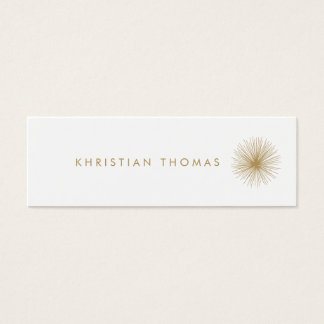 VINTAGE MODERNIST INTERIOR DESIGNER Slim Mini Business Card