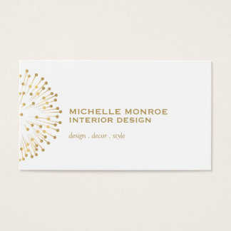 Vintage Modernist Starburst Interior Designer II Business Card