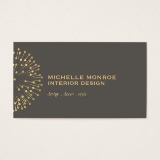 Vintage Modernist Starburst Interior Designer III Business Card