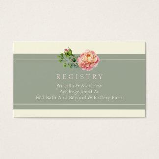 Vintage moderno, tarjeta floral del registro del tarjetas de visita