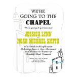 Vintage moderno vamos al boda de la capilla anuncio personalizado