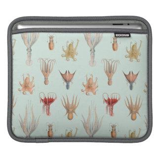 Vintage Mollusks (Blue) iPad Sleeve