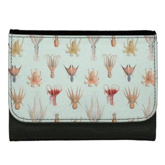 Vintage Mollusks (Blue) Women's Wallets