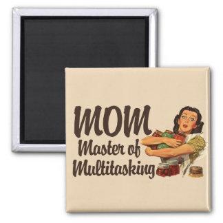 Vintage Mom 2 Inch Square Magnet