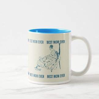 Vintage mom and child - Best Mom Ever Two-Tone Coffee Mug