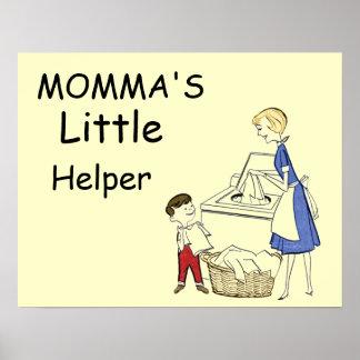 Vintage Momma's Little Helper Poster